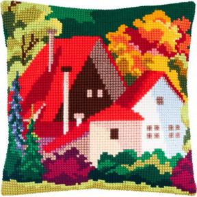 Набор для вышивки подушки Чарівниця Z-61 Осенний пейзаж фото