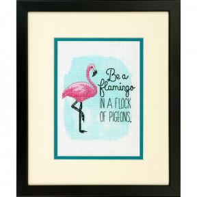 """Набор для вышивания Dimensions 70-65168 """"Быть фламинго/Be a"""