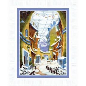 Набор для вышивания крестом Чарівна Мить ВТ-162 Зимний дворик