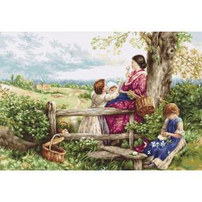 Набор для вышивки крестом Luca-S B562 Весенние цветы фото