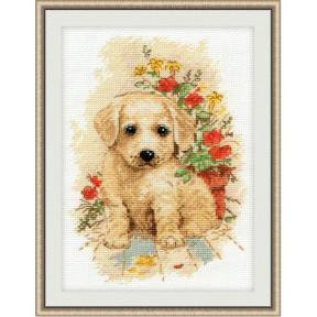 Набор для вышивки крестом Овен 998 Мой щенок