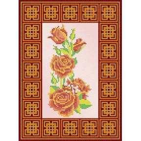 Схема для вышивания бисером Абрис Арт АС-109 Красная роза фото