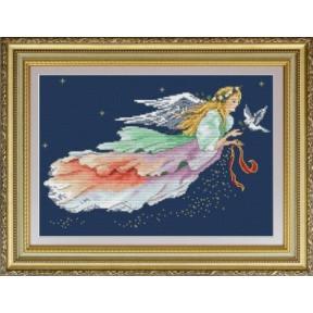 Набор для вышивания крестиком OLanTa VN-058 Ангел Рождества фото