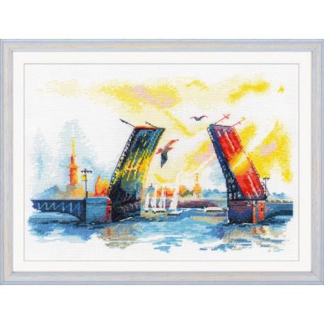 Набор для вышивки крестом Овен 1003 Дворцовый мост фото