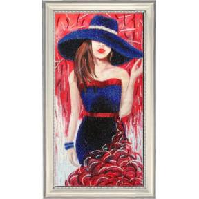 Набор для вышивания бисером Butterfly 493 Дама в шляпе (по