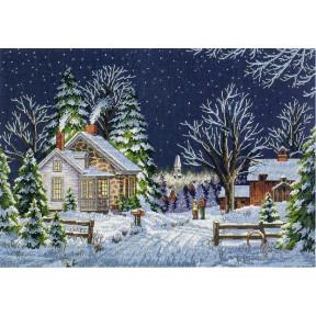 Набор для вышивания крестом Classic Design Зимняя ночь 4424