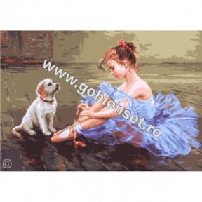 Набор для вышивания гобелен Goblenset G1055 Маленькая балерина