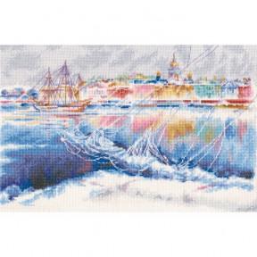 Набор для вышивки крестиком RTO M592 Хрустальные тени на льдинах Невы