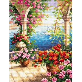 Набор для вышивки крестом Чудесная игла 48-10 Цветочный бриз