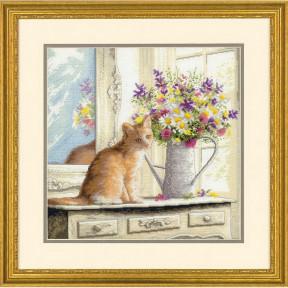 Набор для вышивания Dimensions 70-35359 Kitten in the Window