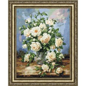 Набор для вышивки Золотое Руно ЛЦ-043 Букет белых роз