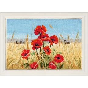 Набор для вышивки крестом Овен 1010 Лето,поле,маки фото