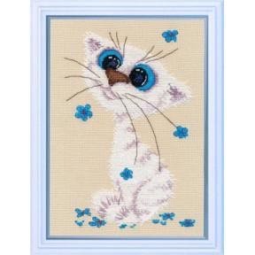 Набор для вышивки крестом Овен 1020 Кошка-крошка фото