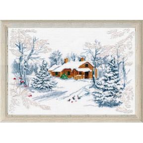 Набор для вышивки крестом Овен 1025 Сказка зимнего леса фото