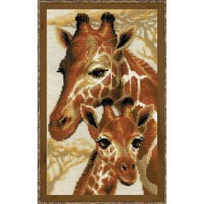 """Набор для вышивки крестом Риолис 1697 """"Жирафы"""""""