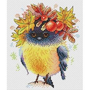Набор для вышивки крестом МП Студия М-236 Осенняя пташка