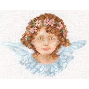 Набор для вышивания Lanarte L34982 Ангел в голубом фото