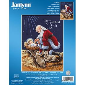 Набор для вышивания Janlynn 015-0242 Kneeling Santa фото