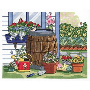 Набор для вышивания Janlynn 017-0110 Rain Barrel and Window Box