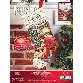 Набор для вышивания Janlynn 015-0243 Waiting For Santa Stocking