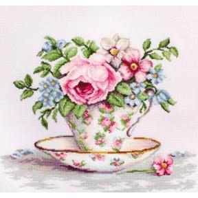 Набор для вышивки крестом Luca-S B2321 Цветы в чайной чашке фото