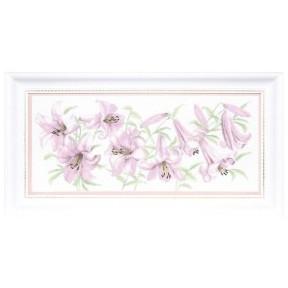 Набор для вышивки Чарівна Мить М-231 Сиреневые лилиии фото