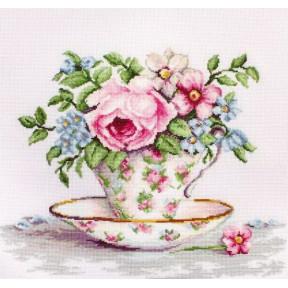 Набор для вышивки крестом Luca-S BA2321 Цветы в чайной чашке