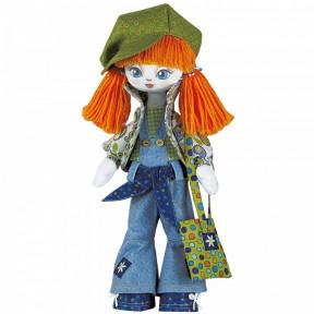 """Набор для шитья куклы на льняной основе. Текстильная кукла Нова Слобода К1004 """"Модница"""""""