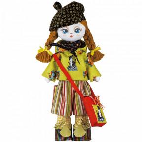 """Набор для шитья куклы на льняной основе. Текстильная кукла Нова Слобода К1008 """"Художница"""""""