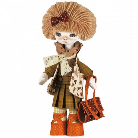 Набор для шитья куклы на льняной основе. Текстильная кукла Нова