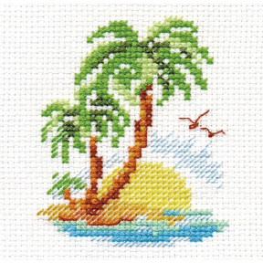 Набор для вышивки крестом Алиса 0-155 Пальмовый островок фото