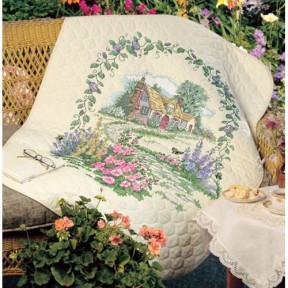 Набор для вышивания Dimensions 3216 Hollyhock Cottage Quilt фото