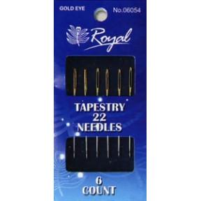Иглы для вышивания с золотым ушком Royal №22 (6 шт) 06054 фото