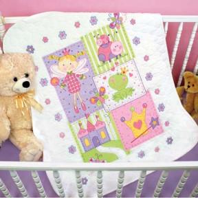 Набор для вышивания одеяла Dimensions 70-73541 Fairy Quilt фото