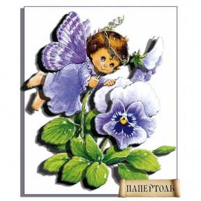 """Картина из бумаги Папертоль РТ130032 """"Ангел Фиалка"""""""