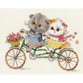 Набор для вышивки крестом Алиса 0-178 Басик и Ли-Ли. Счастливый