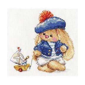 Набор для вышивки крестом Алиса 0-180 Зайка Ми. Моряк фото