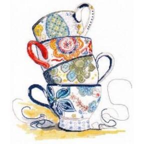 Набор для вышивки крестом Овен 1034 Чайная коллекция фото