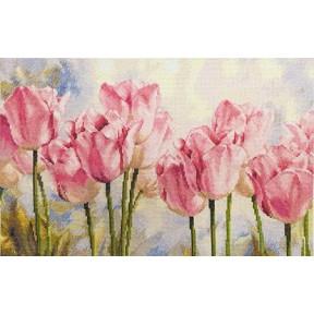 Набор для вышивки крестом Алиса 2-37 Розовые тюльпаны