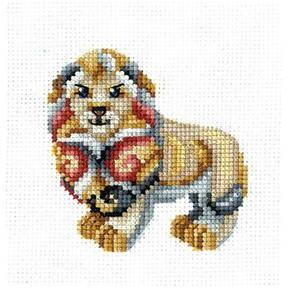 Набор для вышивки крестом Сделай Своими Руками  Статуэтки.Лев С-36