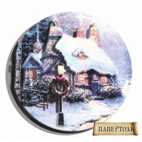 """Картина из бумаги Папертоль РТ130118 """"Рождественский домик"""""""