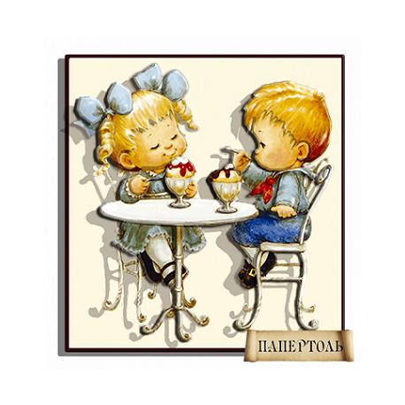 """Картина из бумаги Папертоль РТ150049 """"Кафе-мороженое"""" фото"""