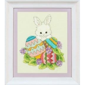 Набор для вышивания крестиком OLanTa VN-073 Пасхальный заяц фото