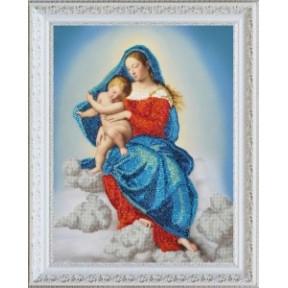 Набор для вышивания бисером  Картины Бисером Р-347 Дева Мария с младенцем