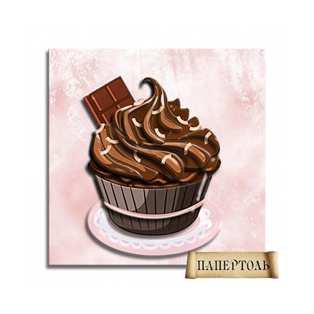 """Картина из бумаги Папертоль РТ150055 """"Шоколадный кексик"""" фото"""