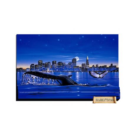 """Картина из бумаги Папертоль РТ150062 """"Киты"""" фото"""