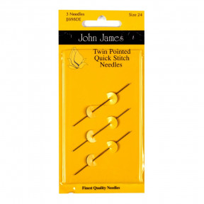 Набор двусторонних гобеленовых игл №22 (3шт) John James JJ698D022