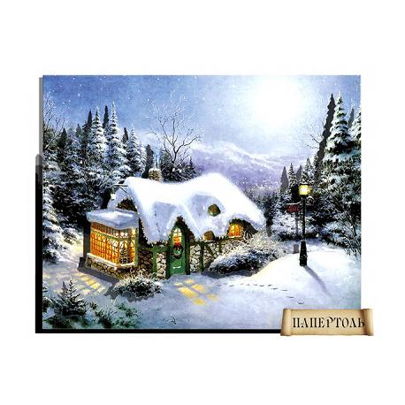 """Картина из бумаги Папертоль РТ150083 """"Зимний вечер"""" фото"""
