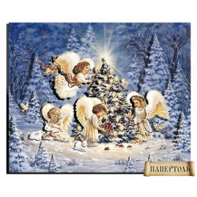 """Картина из бумаги Папертоль РТ150089 """"Рождественские ангелы"""""""