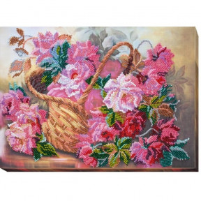 Набор для вышивки бисером на холсте Абрис Арт АВ-441 «Розовая нежность»